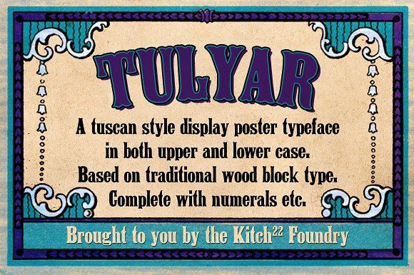Tulyar Woodblock Font Pack by Kitch22 Foundry on @creativemarket