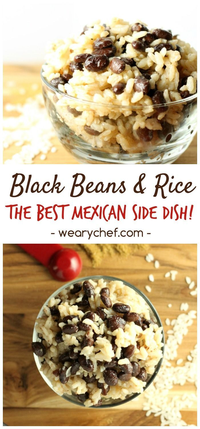 This easy black beans and rice recipe goes great with just about any meat, or use it to fill burritos. You could even add diced chicken or sausage to make a one-dish meal. It is versatile, inexpensive, and very tasty. Perfect Mexican side dish recipe!