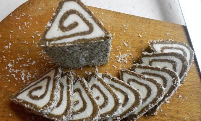 Unbaked coconut triangles Nepečené kokosové trojúhelníčky | NejRecept.cz