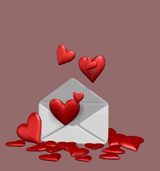corazones rojos en movimiento