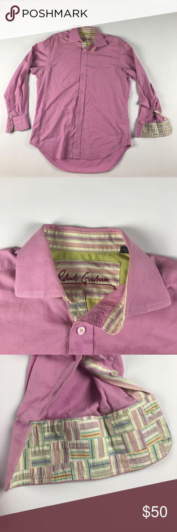 Large Robert Graham Easter Spring Dress Shirt Pink Excellent condition Robert Graham Shirts Dress Shirts