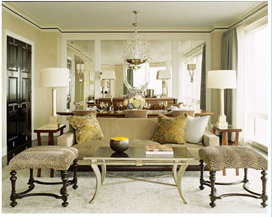 Lovely Living Dining Combination The Mirrors Are Good For