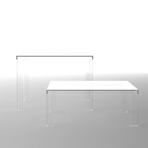 Clear Acrylic Desk IKEA | Acrylic Furniture That Is Almost Invisible 1 Transparent Acrylic ...