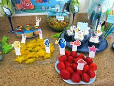 How To Host DIY a Finding Nemo Party, food, decor and more