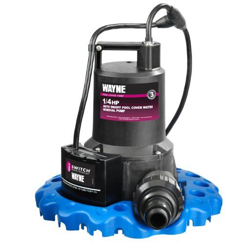 "The #WAPC250 is an automatic on/off water removal pool cover pump. Max. Flow rate is 3000 gallons per hour using 1-1/4"" drain hose. Includes: check-valve with 3/..."