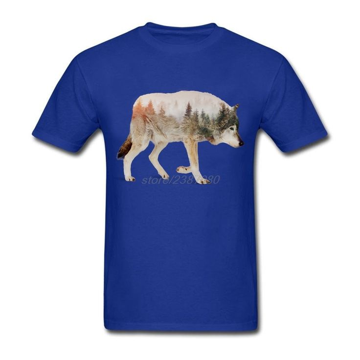 Teenage Wolf T-Shirts Cheap Sale Natural Cotton Mens Formal Shirts Simple Style Round Collar For Man T Shirts