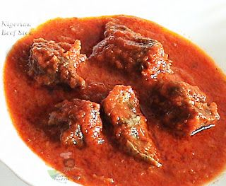 Nigerian Beef Stew -- Obe *can be used with jollof rice, coconut rice or served over yams/plantains etc
