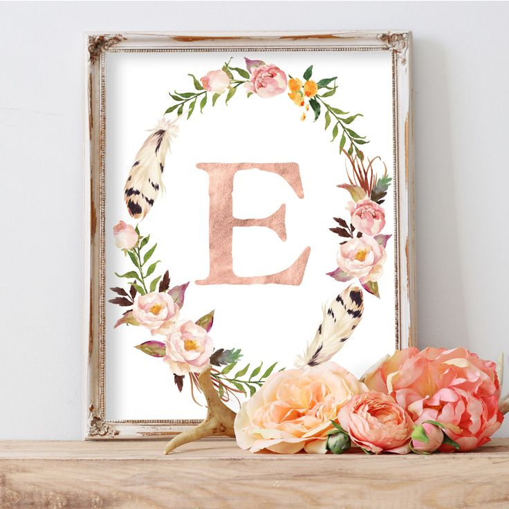 Printable Nursery Art, Blush Nursery Decor, Printable Monogram, Peach Nursery, Monogram Letters, Baby Gift, Wall Letters, Nursery Wall Art by AdorenStudio on Etsy https://www.etsy.com/listing/269575654/printable-nursery-art-blush-nursery