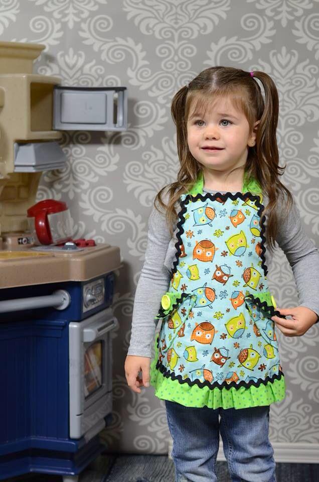Tablier de cuisine hibou pour enfant