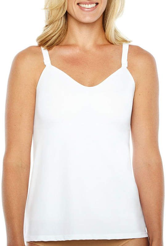 a3fcd49f100af7 NAOMI AND NICOLE Naomi And Nicole 2-Layer Tummy-Shaping No Side-Show  Wonderful Edge Firm Control Shapewear Camisole-7506  Tummy Layer Side