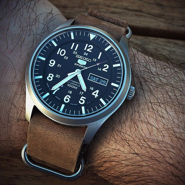 watcheswanted:  Seiko 5 Sports/SNZG15J1 - $200 w/ a Leather Zulu Strap  Raddest Looks On The Interner: http://www.raddestlooks.net