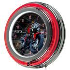 3 in. x 14 in. Honda Grom Chrome Double Ring Neon Clock, Multi