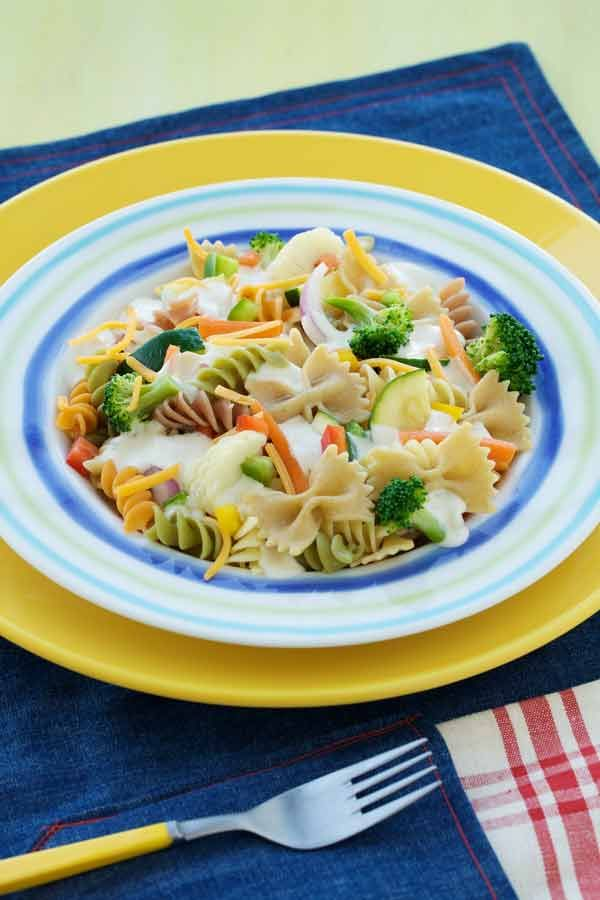 Bow Ties & Springs Pasta Salad