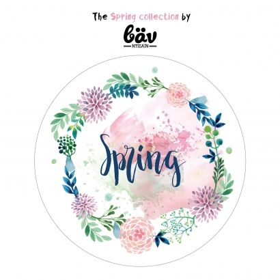 Sticker - Party Packaging - Party Gift - Spring Collection - Flower Wreath - Party Alphabet