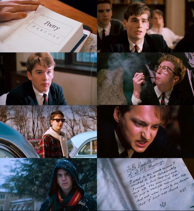 an analysis of the characters in the movie dead poets society by peter weir Tale is called dead poets society by screen-writer tom schulman and directed by peter weir the movie was subsequently followed by a novel written by nh kleinbaum the setting takes place in an ivy league prep school named welton academy in the distant hills of vermont in 1959.