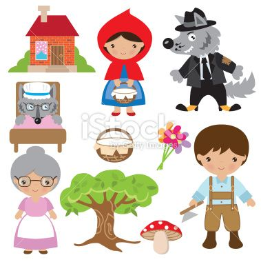 Little Red Riding Hood vector illustration Royalty Free Stock Vector Art Illustration