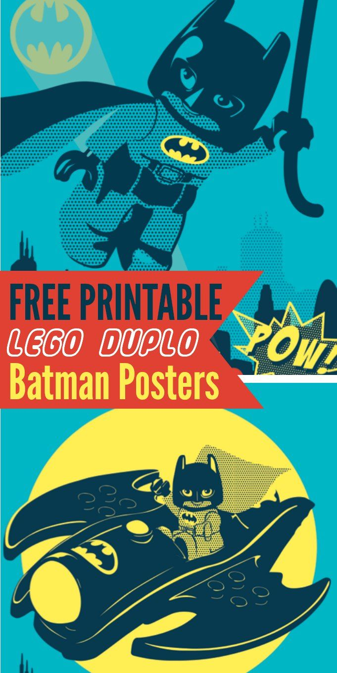 LEGO Batman Free Printables!