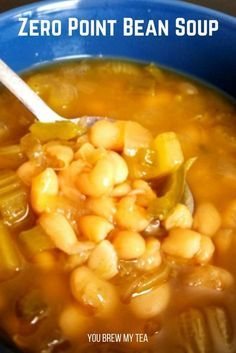 Make our Crockpot Bean Soup for a vegan comfort food dish your family will love! Coming in at 4 SmartPoints or 0 Flex Points this is a Weight Watchers soup! This is a perfect vegan soup recipe that is low in points, high in protein and fiber, and ideal for cold winter nights!