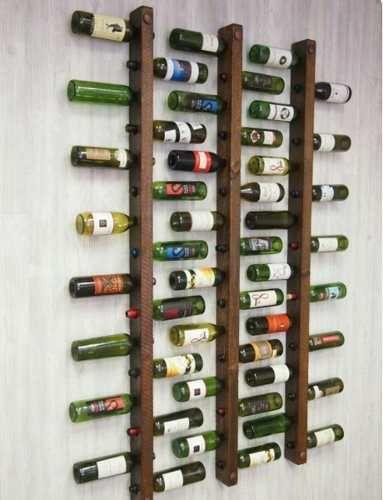 adega madeira vertical parede bar vinho e bebidas 3 suporte
