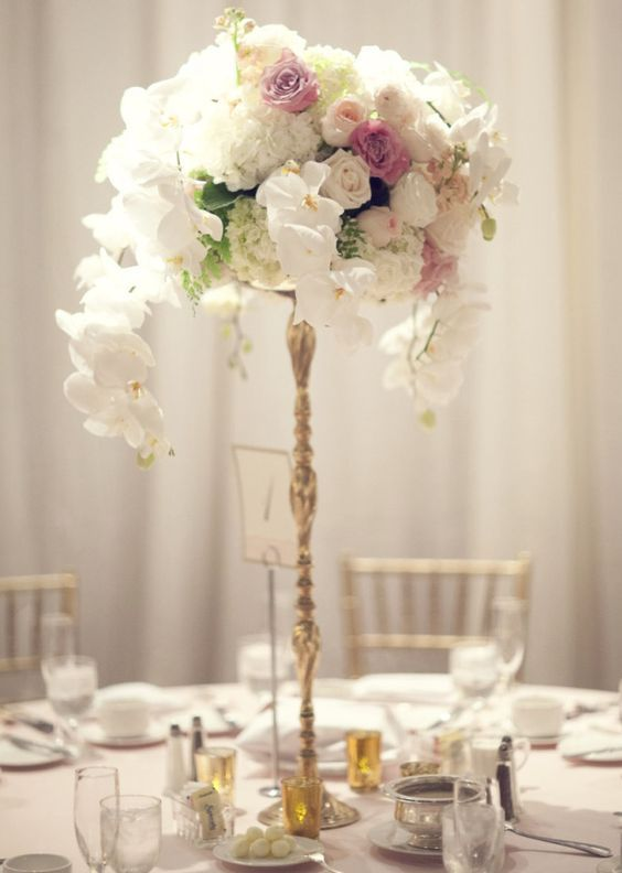 Featured Photographer: Three Nails Photography; Wedding reception centerpiece idea.