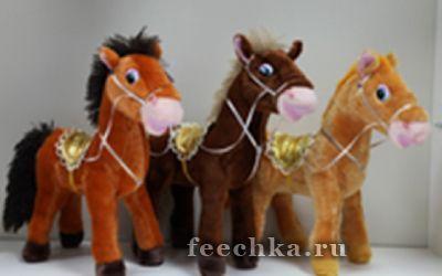 Лошадь с попоной 2 цв. муз.