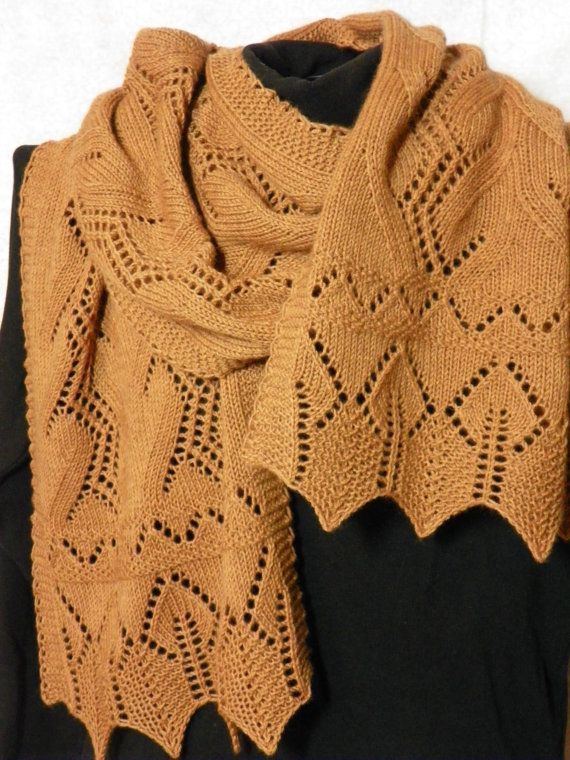 Pattern to Knit Lace Scarf  My Garden Grows  by suelillycreations, $4.00