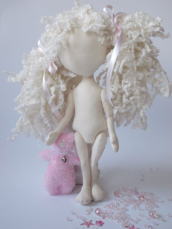 Blank Doll BODY is 10 inches (25 cm) tall .  Fabric doll body is made of 100% cotton fabric and it is filled with hypo-allergenic polyester fiberfill. Hair is made of synthetic thread in white color  These premade doll bodies are perfect if you wish to make the art doll but dont have the time to make the body. The blank doll bodies are ready for your own creativity. You can personalize them by adding clothing.  You only need to dress me... :) <3 Be creative and design an outfit for me Draw…
