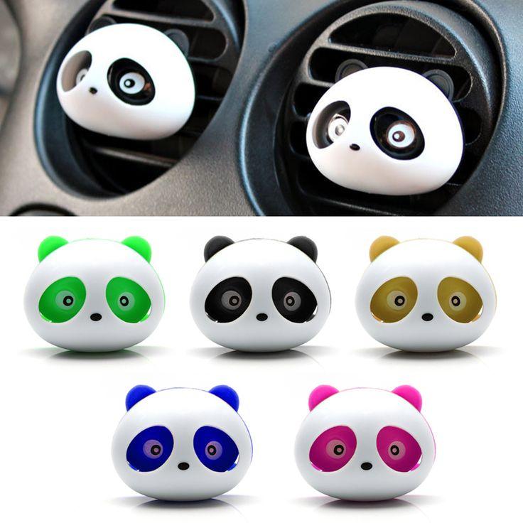 Car Styling Air Freshener 1 Set Car Air Conditioning Vent Perfume Panda Eyes Will Jump 5 Colors Parfume #HP