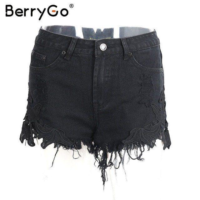 High Waist Lace Shorts – Furrple