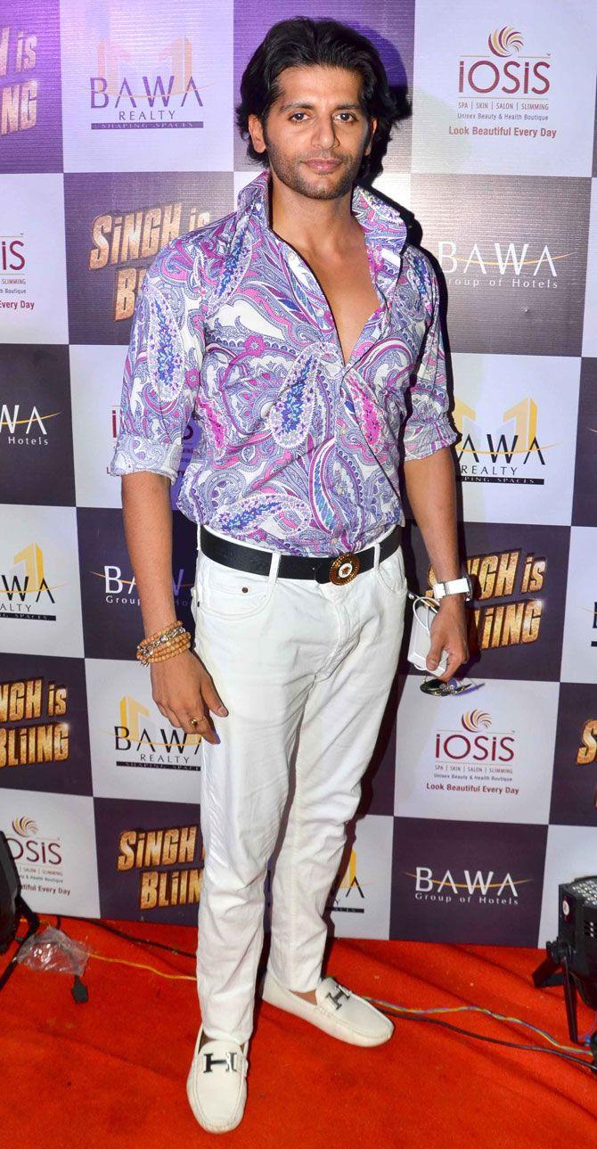 Karanvir Bohra at screening of 'Singh is Bliing'. #Bollywood #Fashion #Style #Handsome