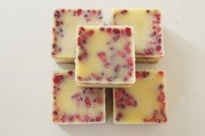Hvid chokolade med hindbær