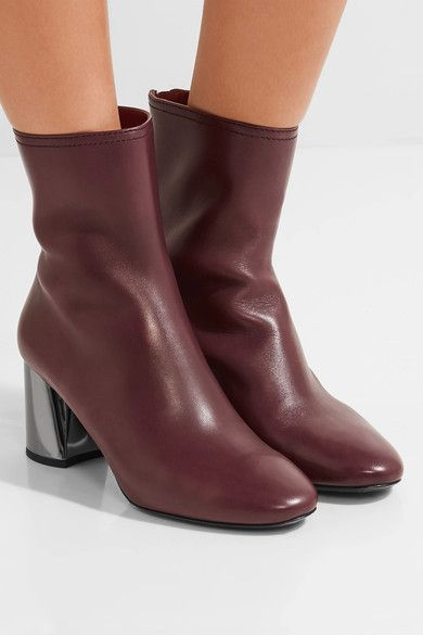 3.1 Phillip Lim - Leather Ankle Boots - Burgundy