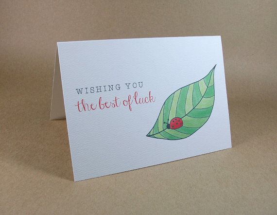 Good Luck Card: Wishing You the Best of Luck