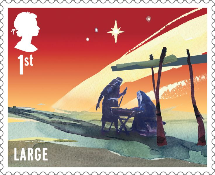 Christmas 1st Large Stamp (2015) The Nativity