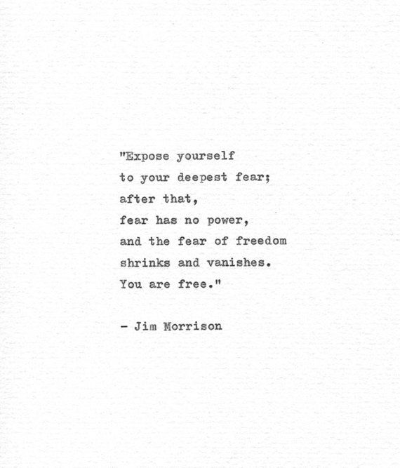 Jim Morrison Inspirational Hand Typed Quote Your Deepest Fear Vintage Typewriter Letterpress American Poetry The Doors Typewritten Art Typed Quotes Words Quotes Quotable Quotes