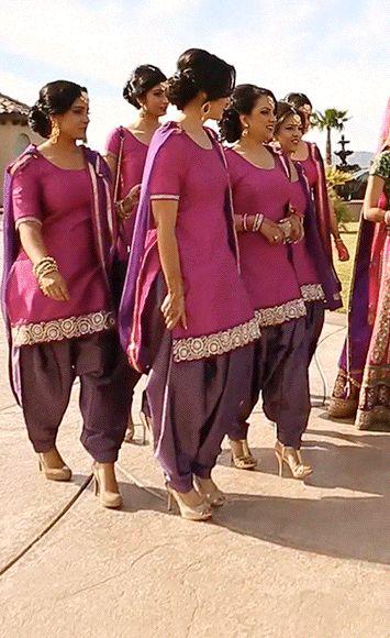 vibrant salwar kameez in violet and hot pink (large-animated-gif!!!)