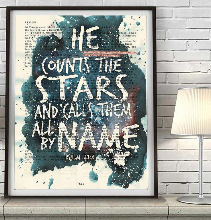 He counts the stars Psalms 1474 Bible