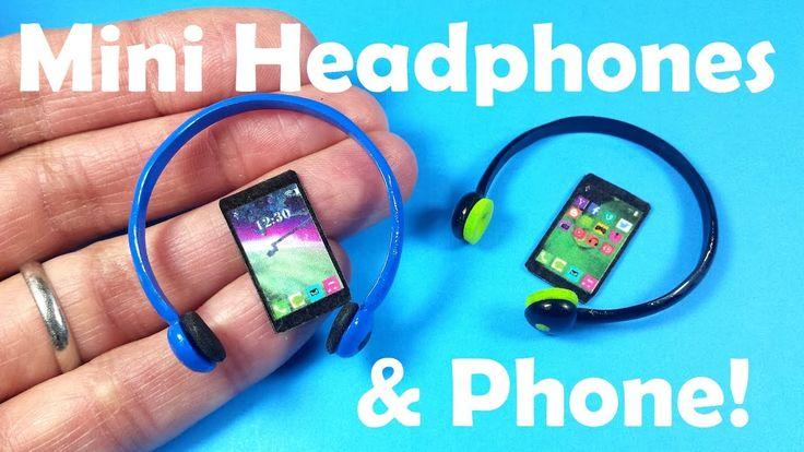 DIY Miniature Doll Headphones & Cell Phone