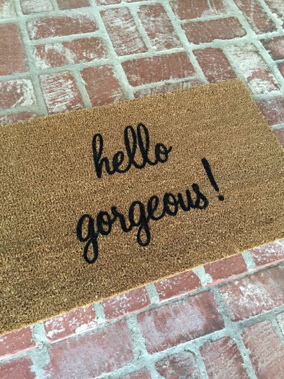 The hello gorgeous outdoor mat by TheJarShoppe by TheJarShoppe