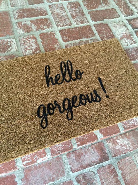 The hello gorgeous outdoor mat by Josie B doormat by ShopJosieB