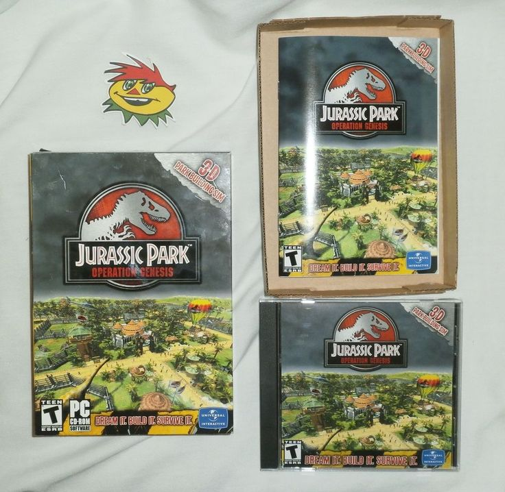Super Rare Jurassic Park Operation Genesis (PC, 2003