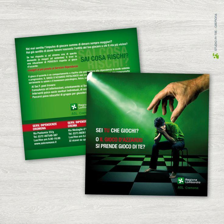 Flyer Gioco d'azzardo - terapie ASL © Studio Pi Tre (Cremona - Italy)