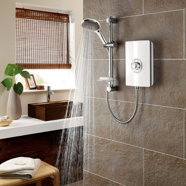 Triton Aspirante 9.5Kw Electric Shower Gloss White | VictoriaPlum.com