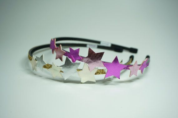 Check out this item in my Etsy shop https://www.etsy.com/listing/242276284/glitter-star-headband-girls-hairband