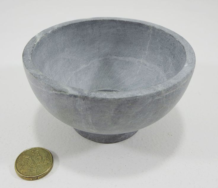 Small bowl hand turned from soapstone. Perfect for dips, sauces, condiments. A$12.99