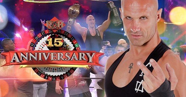 """Ring of Honor Wrestling (@ringofhonor) on Instagram: """"BREAKING: Christopher Daniels wins ROH World Championship! #ROH15th"""""""