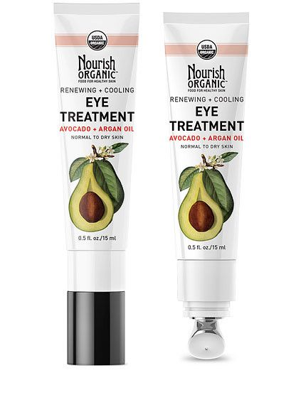 Renewing + Cooling Eye Treatment Cream - Avocado and Moroccan Argan Oil condition and hydrate the skin while our innovative cooling applicator helps reduce puffiness and dark circles. Ideal for normal to dry skin. #avocado #arganoil #naturalskincarehttp://nourishorganic.com/collections/face/products/avocado-argan-eye-cream