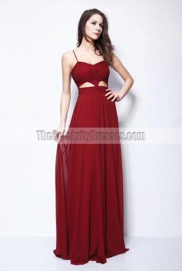 Blake Lively Burgundy Cut Out Prom Dress Gossip Girl Fashion