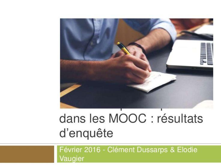 Evaluation Par Les Pairs Dans Les Mooc Resultats D Une Enquete Evaluation Clement
