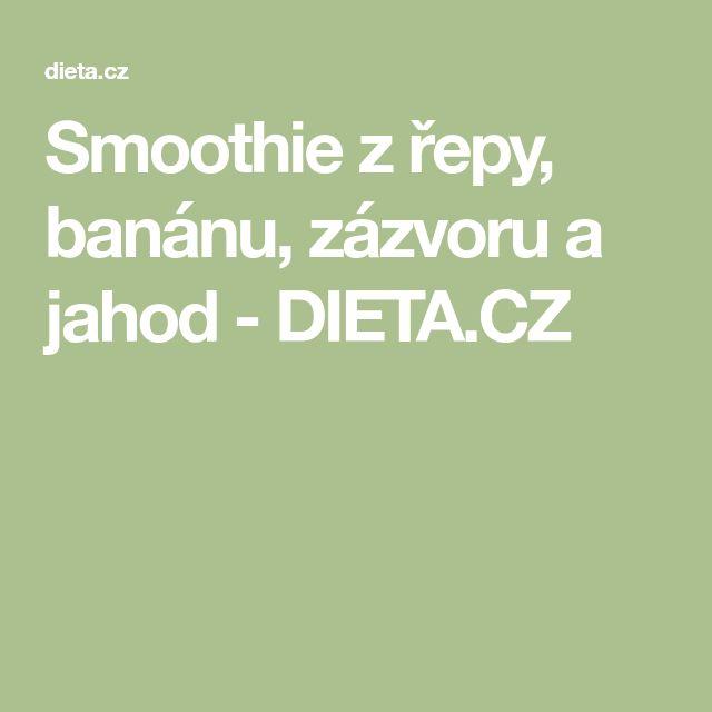 Smoothie z řepy, banánu, zázvoru a jahod - DIETA.CZ
